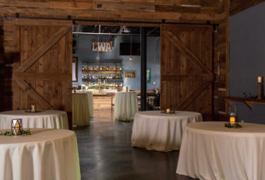 A Wedding Tables with Barn Doors
